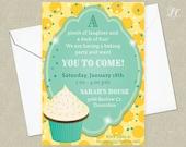 DIGITAL DOWNLOAD Birthday, Cupcake Birthday Party Invitation, Baking Birthday, Baking Party Invitations, Corjl Template, Editable Invitation