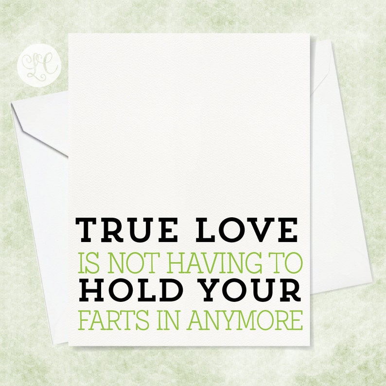 True Love Card  Engagement Card  Funny Anniversary Card  image 0
