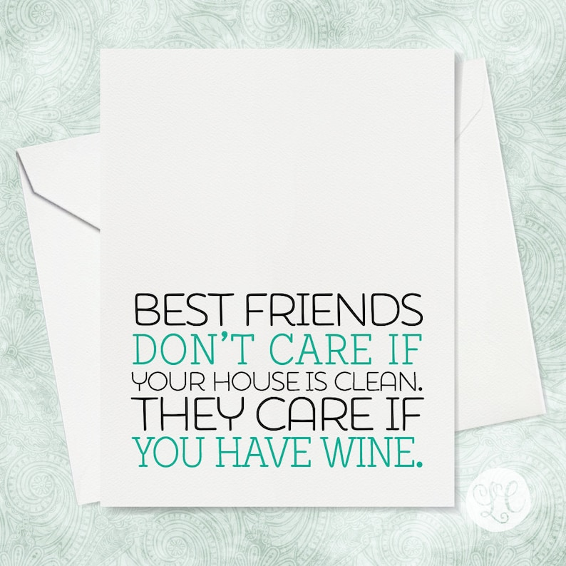 Clean House Card  Best Friend Card  Funny Card  Funny Card image 0