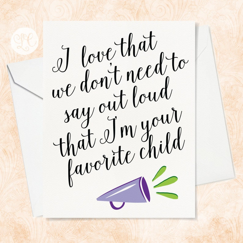 Favorite Child Card  Funny Father's Day Card  Funny image 0