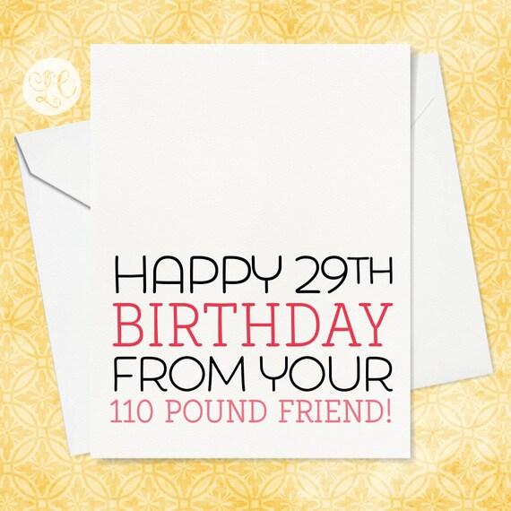 Joyeux Anniversaire 29 Carte Pour Le Meilleur Ami Etsy