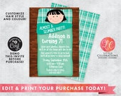 Almost a Slumber Party Birthday Party Invitation - Sleepover Birthday Invitation - Slumber Party Invitations - Editable - Corjl Template