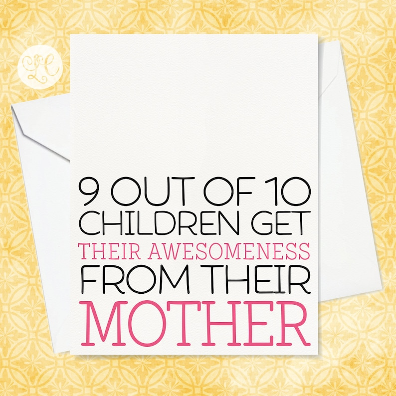 Favorite Kid Card for Mom  Mother's Day Card  Funny image 0