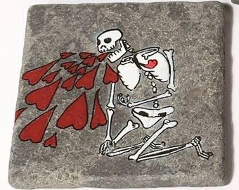 Love Sick Skull Heart Coasters