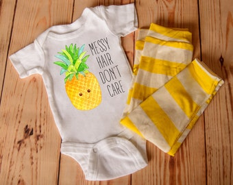 Baby girl clothes, sweet pineapple infant newborn clothing, funny cute babies spring shirt, hospital coming home outfit, gender reveal party