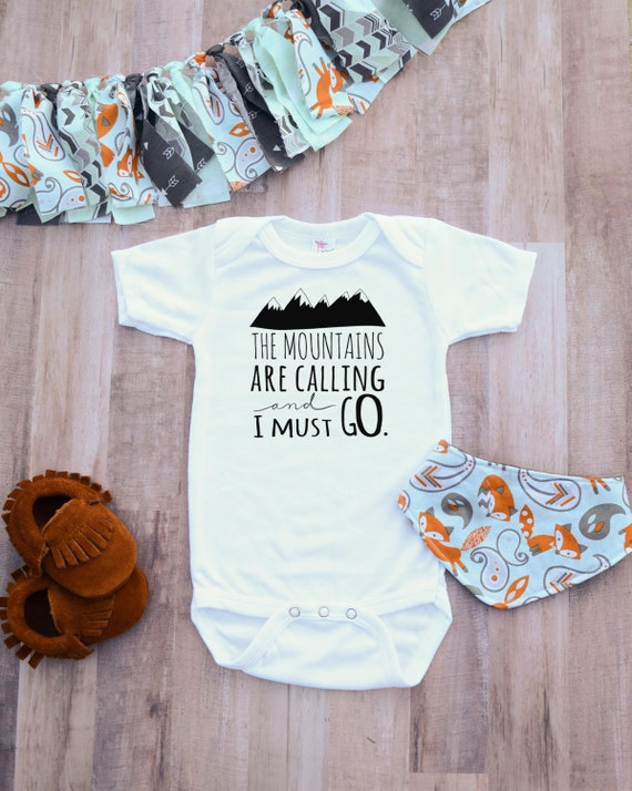 42a58a404 Newborn unisex adventure clothing baby mountain are calling