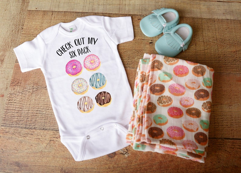 989019c0f Gender neutral baby clothes donut doughnut funny food pastry | Etsy