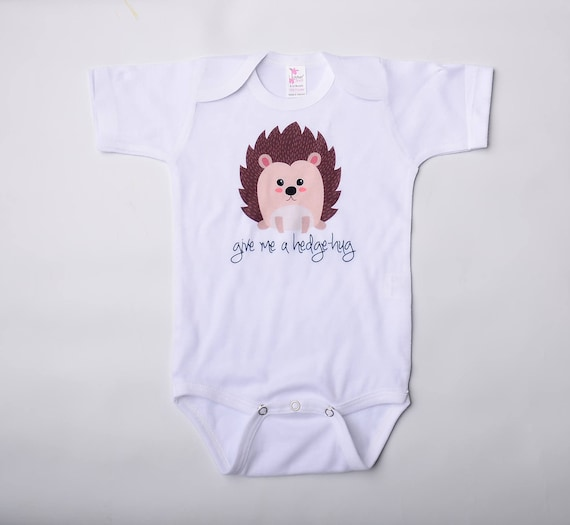 animal hedgehog forest woodland newborn infant bodysuit cute hospital going home outfit boy girl Gender neutral baby clothes gift for mom