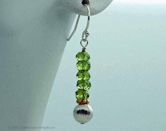 Peridot multi-metal earrings