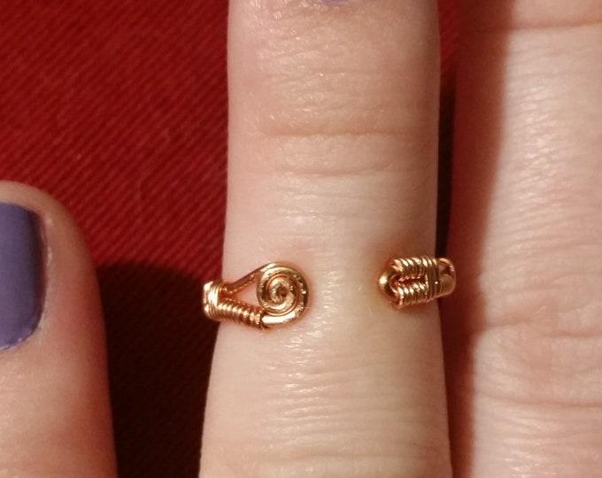 Copper Toe Ring