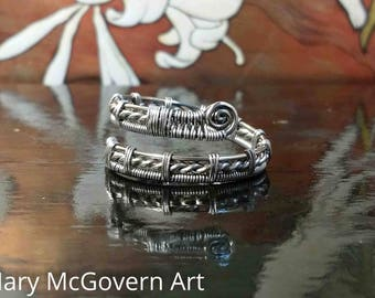 Ring. Jose. Niobium. Wire Wrapped. Jewelry. Handmade. Custom.
