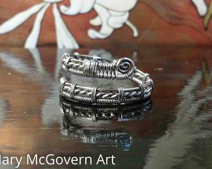 Ring. Jose. Niobium. Wire Wrapped. Jewelry. Handmade. Custom.