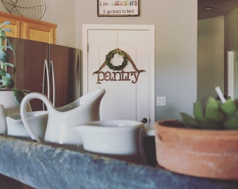 Metal Pantry Sign Kitchen Home Decor Farm Style | Rusty | Black | Galvanized