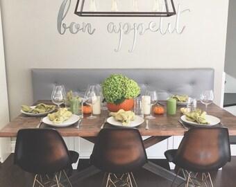 bon appetit || Metal Sign || Metal Words || Kitchen Sign || Eat Sign || Galvanized Metal Sign || Cursive Words ||