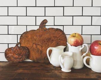 Large Pumpkin || Metal Pumpkin || Rusty || Galvanized || Fall Decor || Home Decor || Tablescape || Rustic