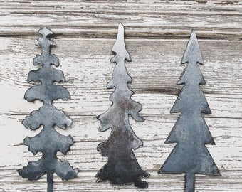 Matte Metal Tree Set No. 3 || Tablescape  || Home Decor || Farmhouse Christmas || Farmhouse Style || Galvanized Metal