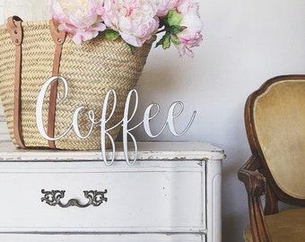 Coffee Sign || Metal Sign || Home Decor || Farmhouse Style || Rusty || Galvanized || Black ||