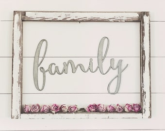 family Sign    Ready to Ship    Metal Sign    Home Decor    gallery wall    Galvanized    Black