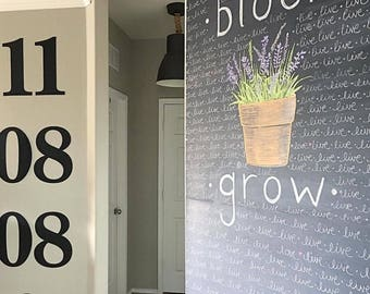 Numbers    18 inch    Large Number    Big Metal Number    Large Metal Sign    1 2 3 by Junk Love and Co   