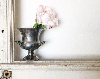 Champagne Bucket    Silver Bucket    F.B. Rogers    Tarnished Silver    Shabby Chic    Farmhouse Style    Vintage Style Decor   