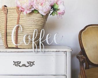 Coffee Sign    Metal Sign    Home Decor    Farmhouse Style    Rusty    Galvanized    Black   