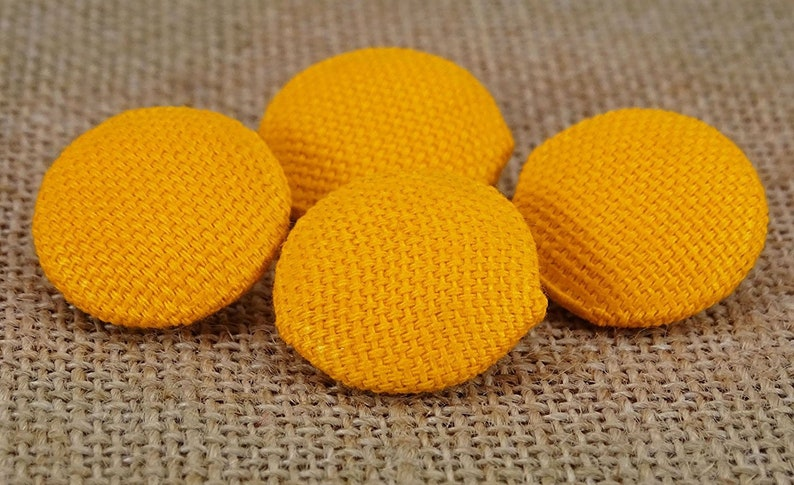 2 Holes Buttons Cotton Twill Fabric Covered Button Round Shape Pack of 50 Pieces Yellow Buttons PBTN-CT1E-B Sewing Accessories