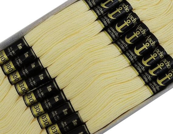 Fil à d'ancre de couleur crème, fil d'artisanat fait à Fil la main, 25 échevettes brodé Cross Stitch, fil de coton Mouliné, AMTB102A a6af6b