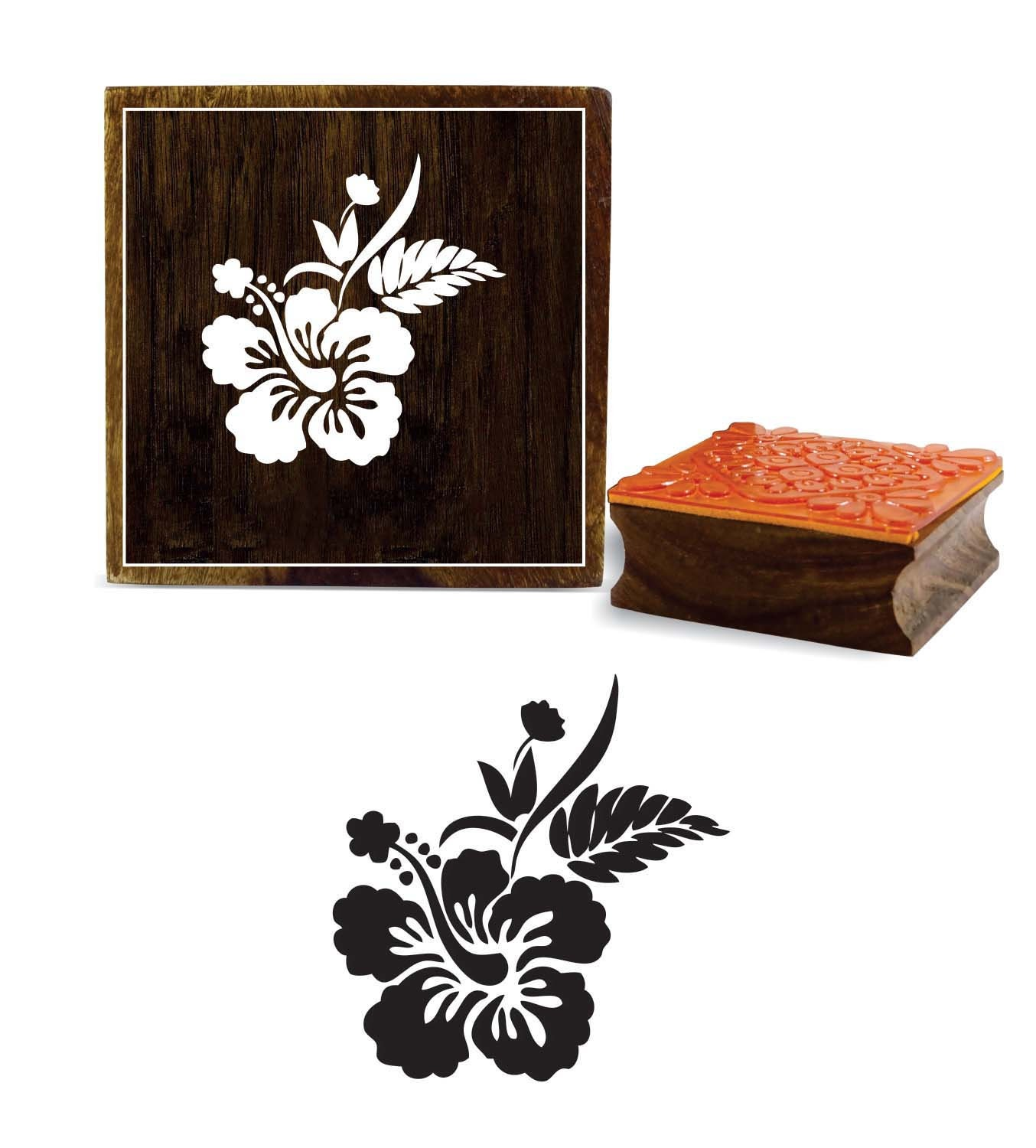 edde082d43 Antique Square Floral Pattern Craft Textile Stamp, Diy Printing Wooden  Rubber Stamp, Scrap-Book Decorative Wood Art Craft By 1 Pc, PRB-434