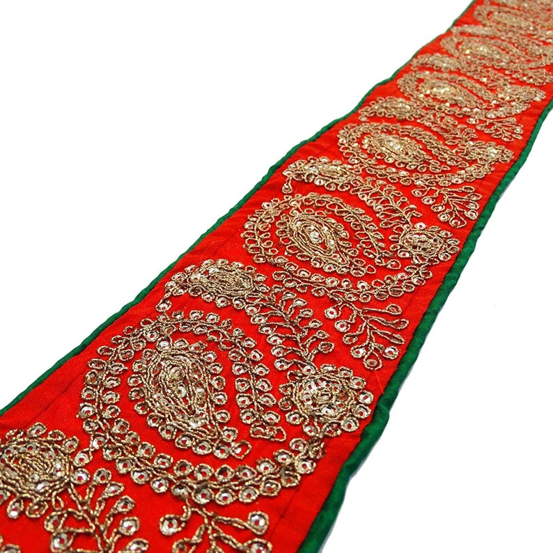 Costumes Dressmaking 1 Yard 3 cm Wide Sequin Lace Ribbon Trim for Craft