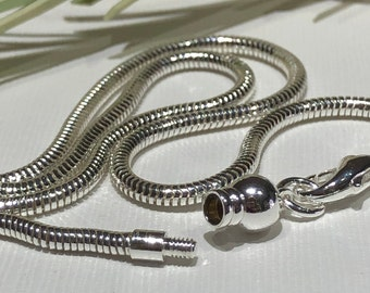 Dione Add-a-Bead GP 2.6mm Chain w// Threaded End Necklace 5 Lengths to Pick From