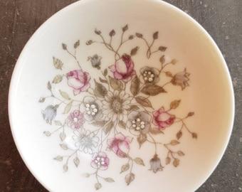 Miniature signed Arabia floral  handpainted little bowl.