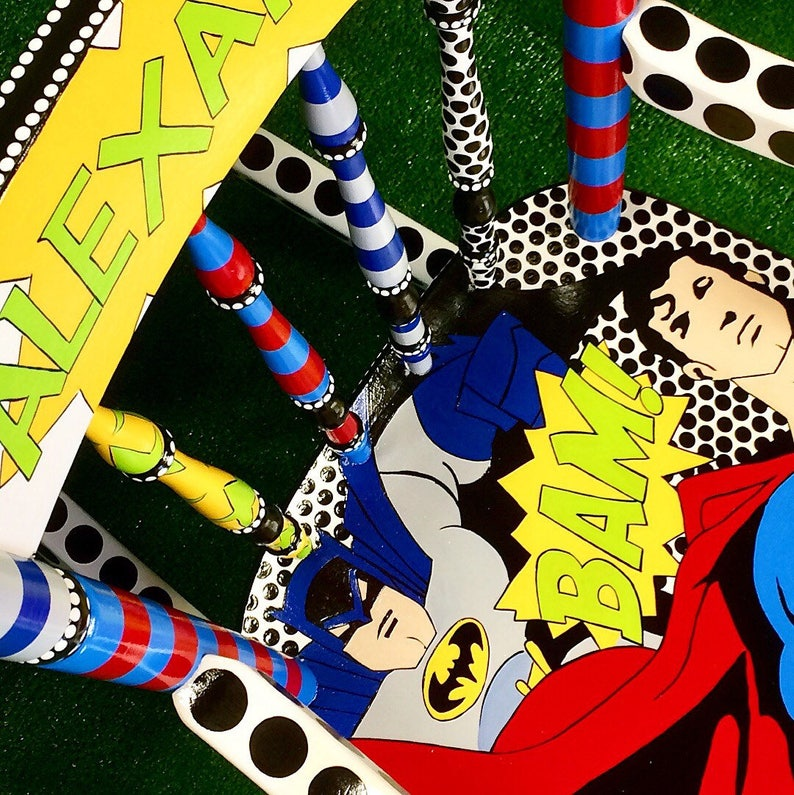 Superhero Kids Rocking Chair Superman Spiderman Batman Rocker for Children Every Little Boy is a Superhero