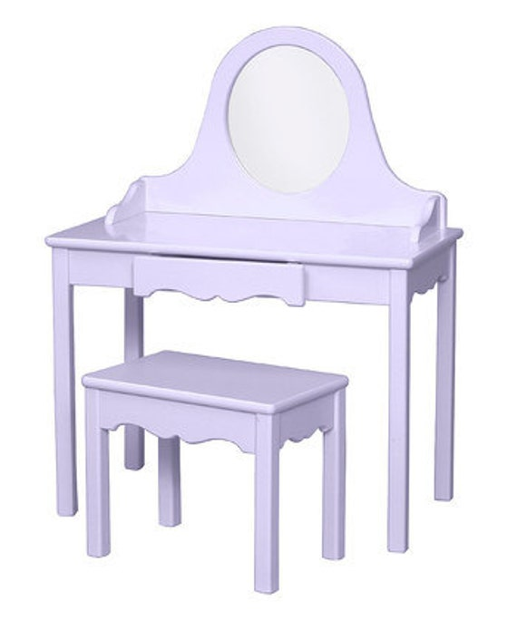 Enjoyable Childs Vanity Table And Bench Kids Vanity Little Girl Make Up Table And Bench Dress Up Playing Dress Up Personalized Vanity Set For Girls Lamtechconsult Wood Chair Design Ideas Lamtechconsultcom
