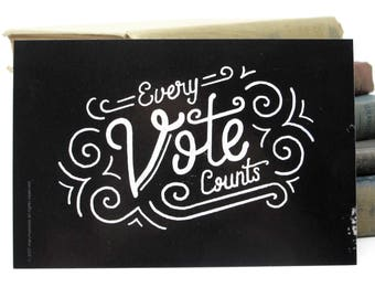 "Political Postcards: Set of 60 ""Every Vote Counts"" postcards, perfect for writing to your reps or get out the vote"
