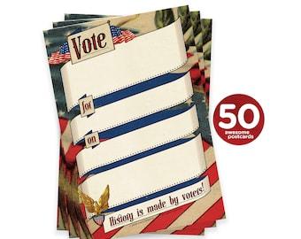 Political Postcards Give Me Your Tired Bulk Set of Single Image Postcards