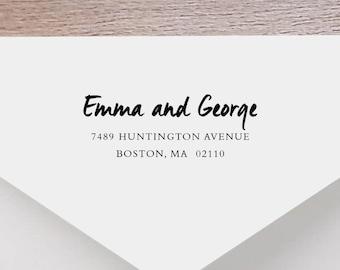 Personalized Return Address Stamp - Handwritten Address Stamp, Self-Inking Return Address Stamp, Wood Stamp, Custom Stamp Style No. 39