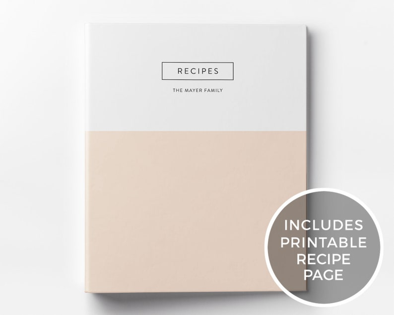 Custom Recipe Binder & Printable Recipe Card Meal Planner image 0