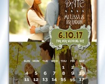 Wedding Calendar Save The Dates, Custom Color Save The Date Magnets, Wedding, Calendar Save The Date Magnets Wedding Invitation Magnet
