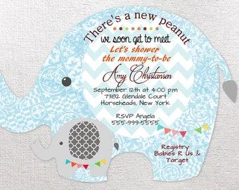 Elephant Baby Shower Invitation, Safari Baby Shower Invitations, Baby Boy Shower Invitation, Girl Shower Invitations, Elephant Shower QTY 20
