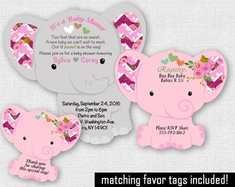 Diaper Invitation Baby Shower Diaper Shape Cards Elephant Etsy