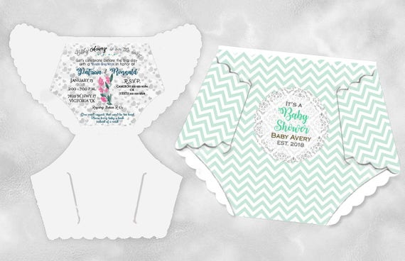 Diaper baby shower invitations mint green pink blue baby boy etsy image 0 filmwisefo