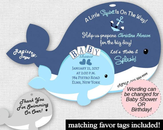 Unique baby shower whale invitations blue whale party invites etsy image 0 filmwisefo