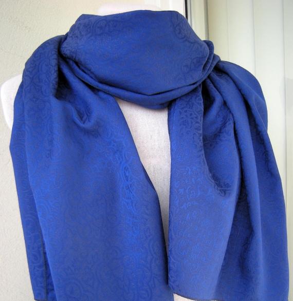 72f2381fc Royal Blue Rayon Scarf/ Wrap | Etsy
