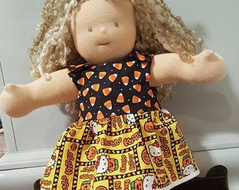Waldorf Doll Clothes - 14 to 16 inch - Halloween Dress f571906e3