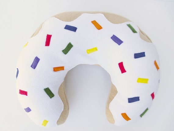Pillow Cover with Rainbow Sprinkles