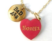 If you have a Bad Ass Nonna like mine, she'll absolutely love this heart necklace as a Mother's Day gift. Also for YiaYia, Abuelita, Grandma