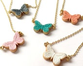 Little BUTTERFLY Necklace - Colourful Butterfly - Christmas under 30 - Stocking Stuffer