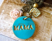 Name necklace, mommy jewelry, Mother's Day Gift, Custom pendant for mom, New baby gift for mama, nana necklace, personalized mama