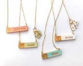 Spring Jewelry 2021, Color Name Necklace, Pastel, Necklace for Mom, Nana, Aunt, Bubbie, Abuela, Yia Yia, Nonna and Mewmaw