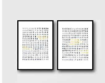 minimalist art, set of 2 prints, modern art, gray watercolor prints, set of 2 Watercolor paintings, abstract wall art, watercolor prints